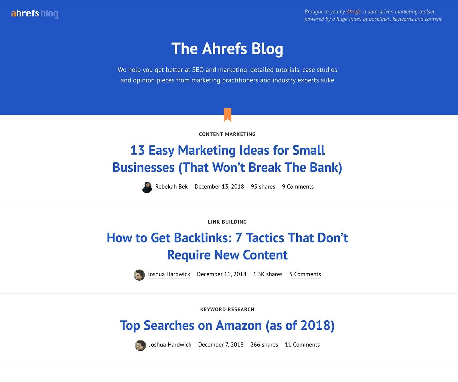 Ahrefs Blog Thumbnail