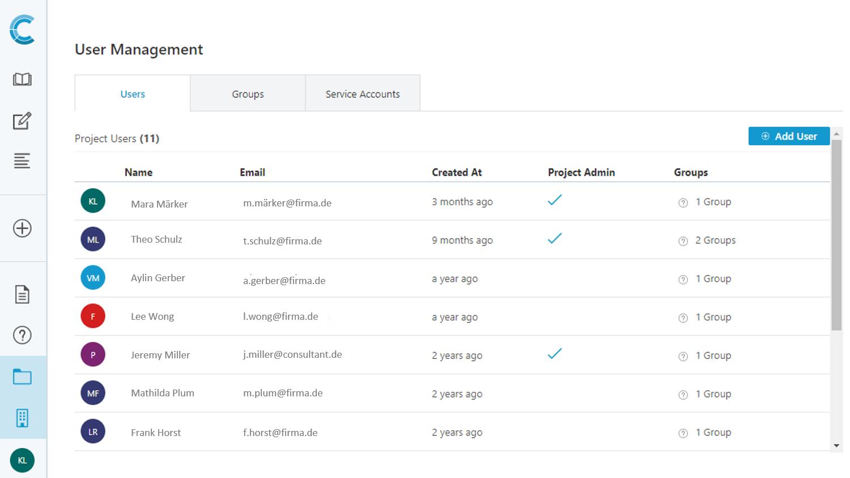data catalog user management role