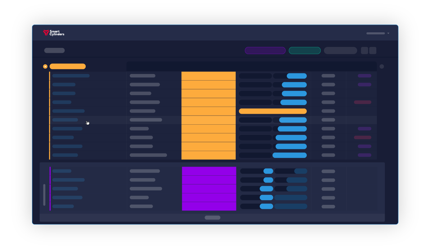 Smart Cylinders Web Portal Graph