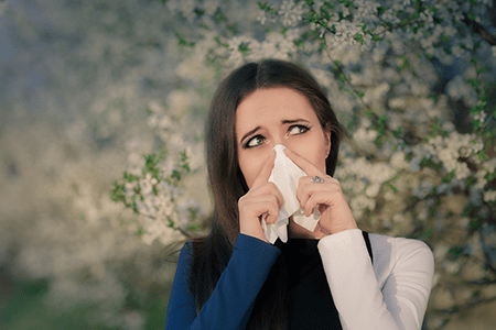 Allergies to springtime pollen and outdoor triggers