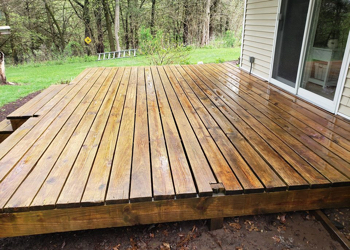 clean decks in a deforest home
