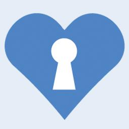 Communication is Key lock in heart logo