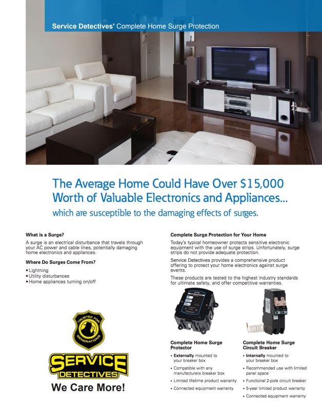 service detectives complete home surge protection package