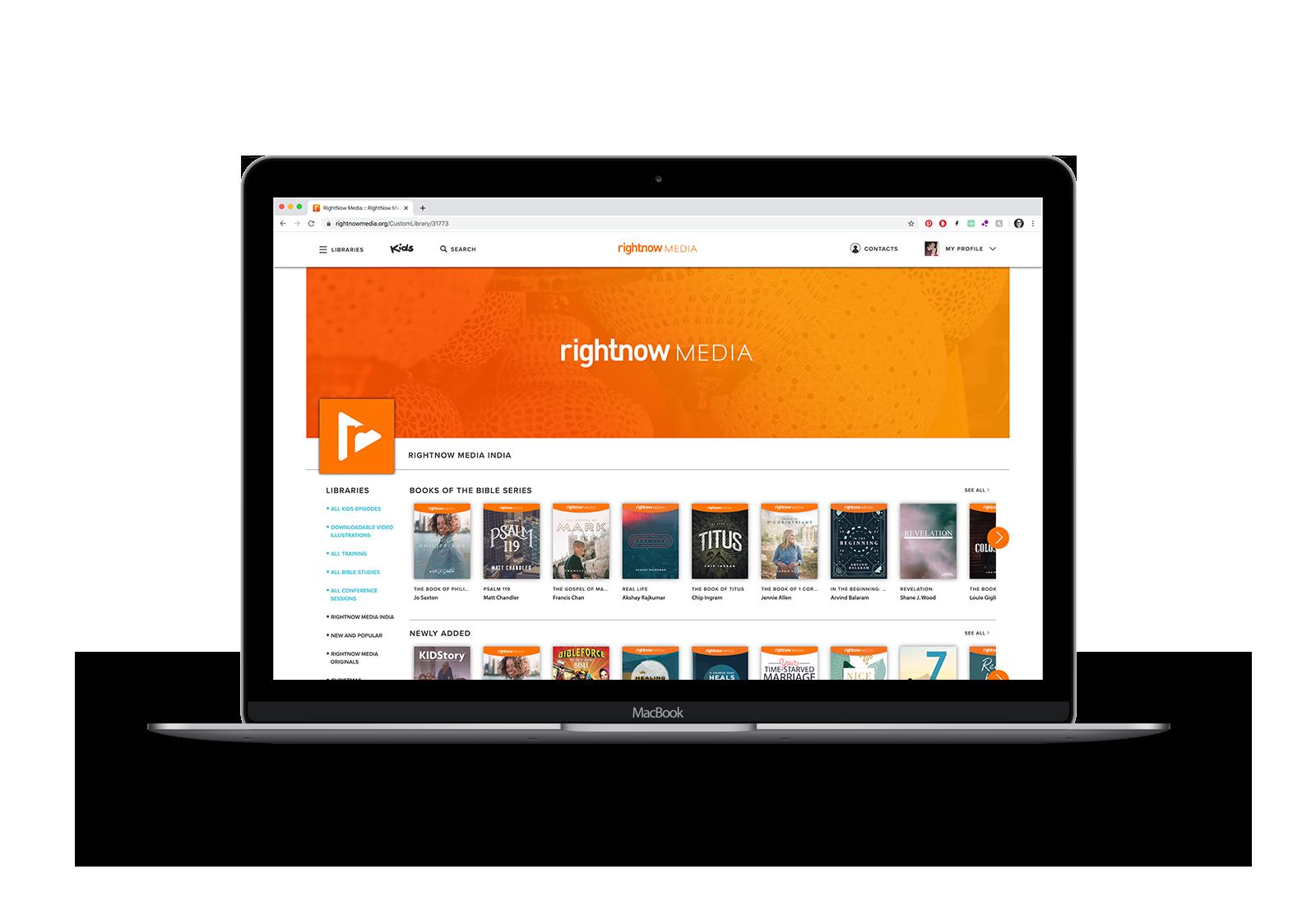 RightNow Media India Platform
