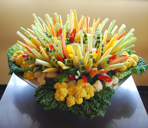 Crudite Centerpiece - Make Your Own Healthy Vegetable Appetizer