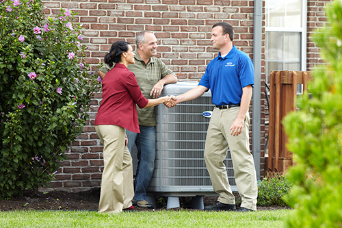 hvac system recently installed in a home in austin tx
