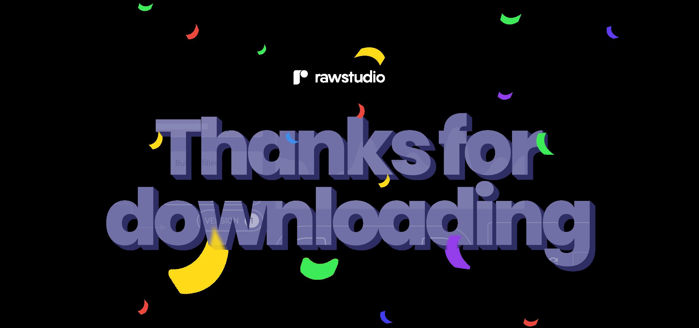 Raw Studio - Thanks