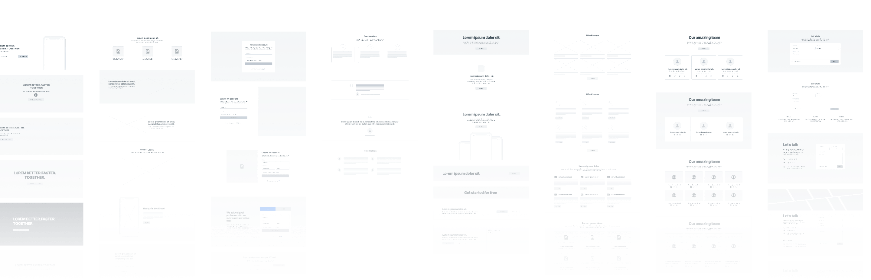 Comprehensive Wireframe Kit for Product Designers