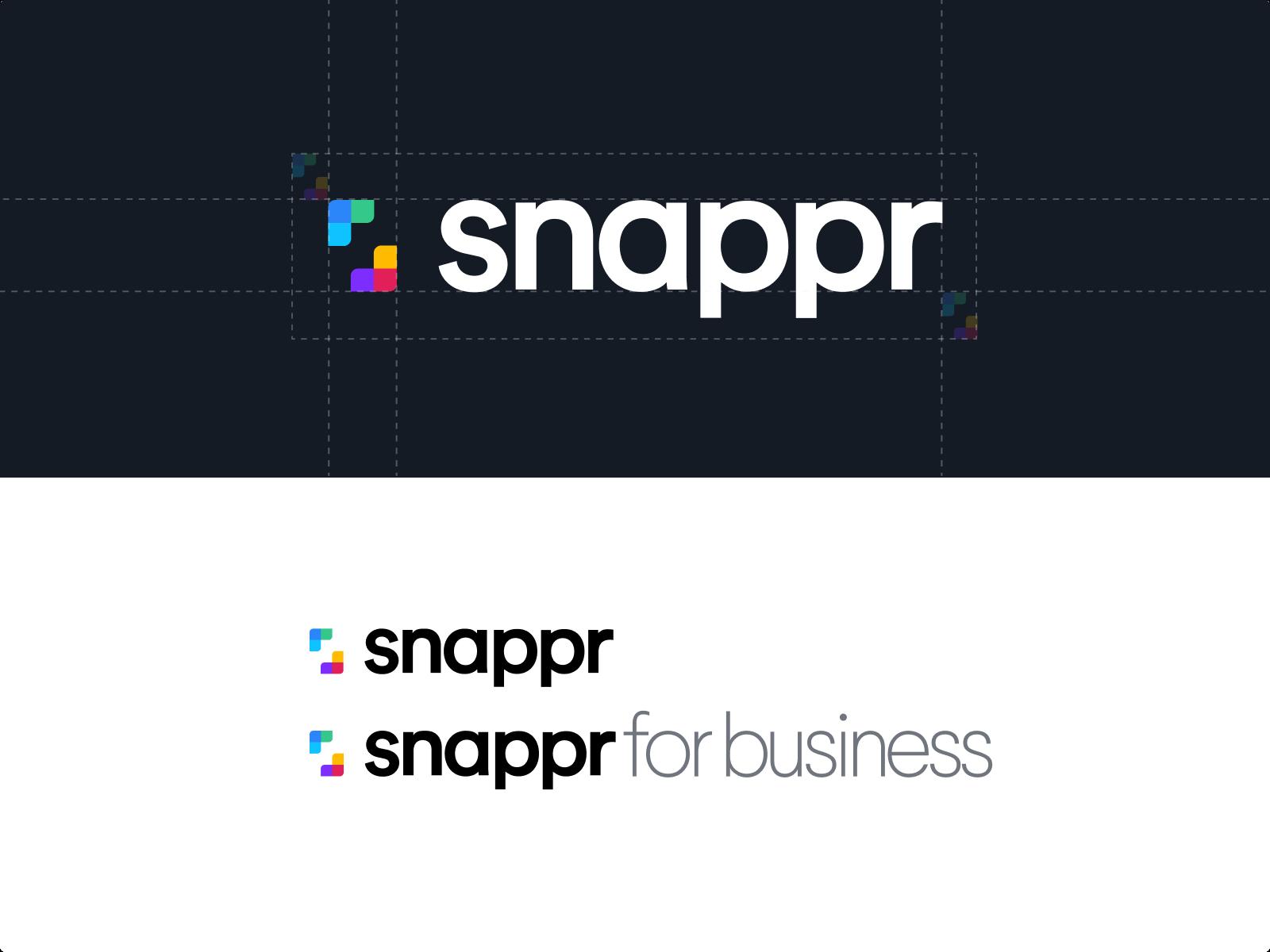 snappr logo branding raw.studio