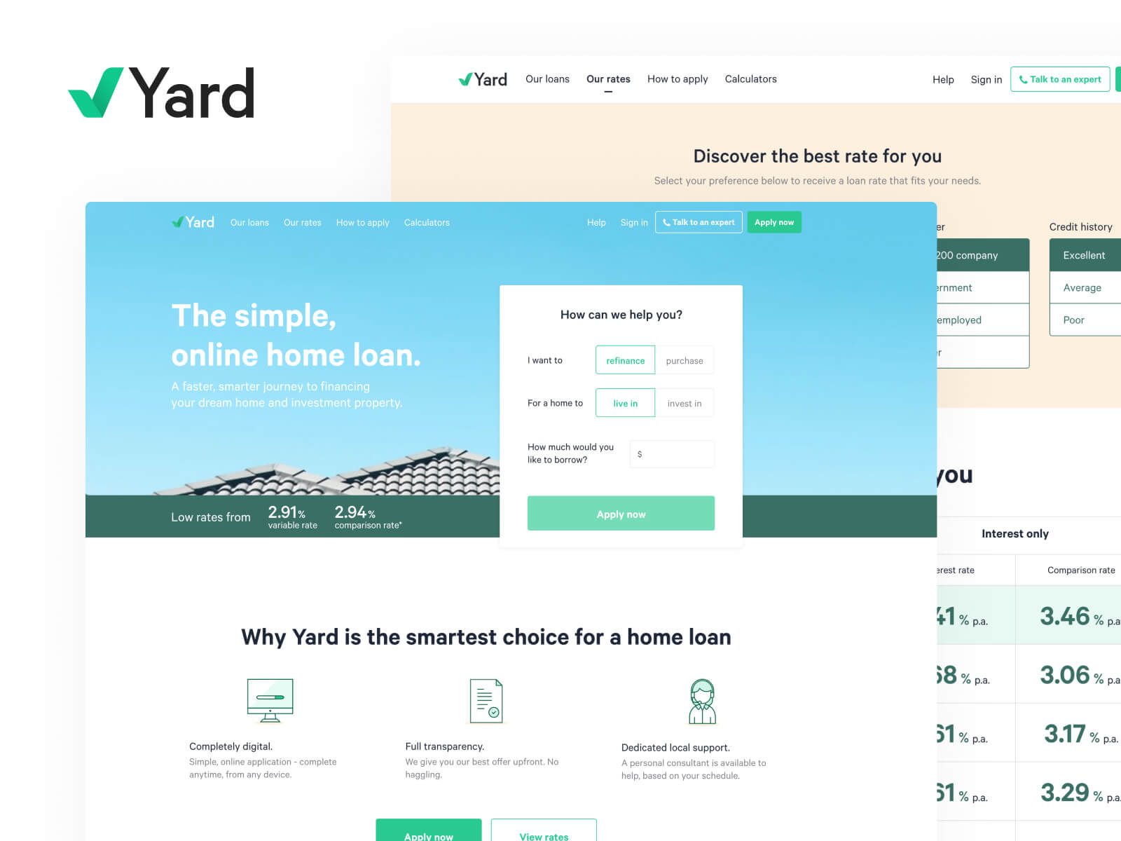 yard website design raw studio