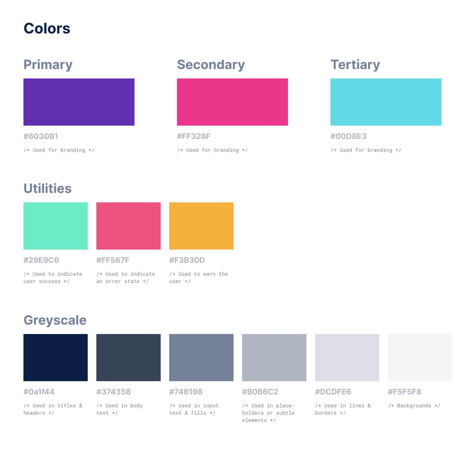 Loopit Colour Palette