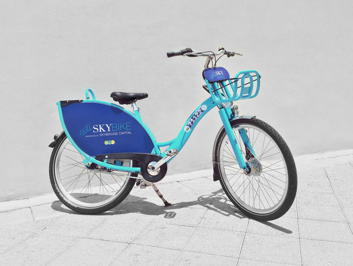 West Palm Beach SkyBike branding
