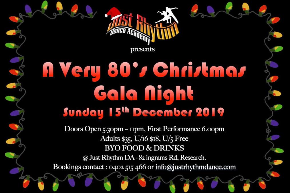 A very 80s Christmas Gala