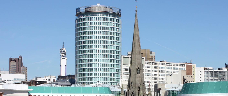Birmingham skyline with Rotunda