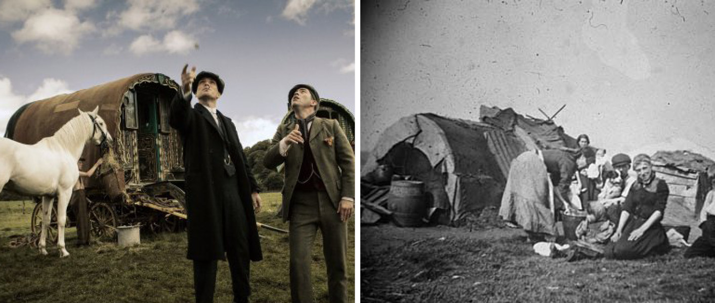 The gypsy camp in Peaky Blinders and in Birmingham
