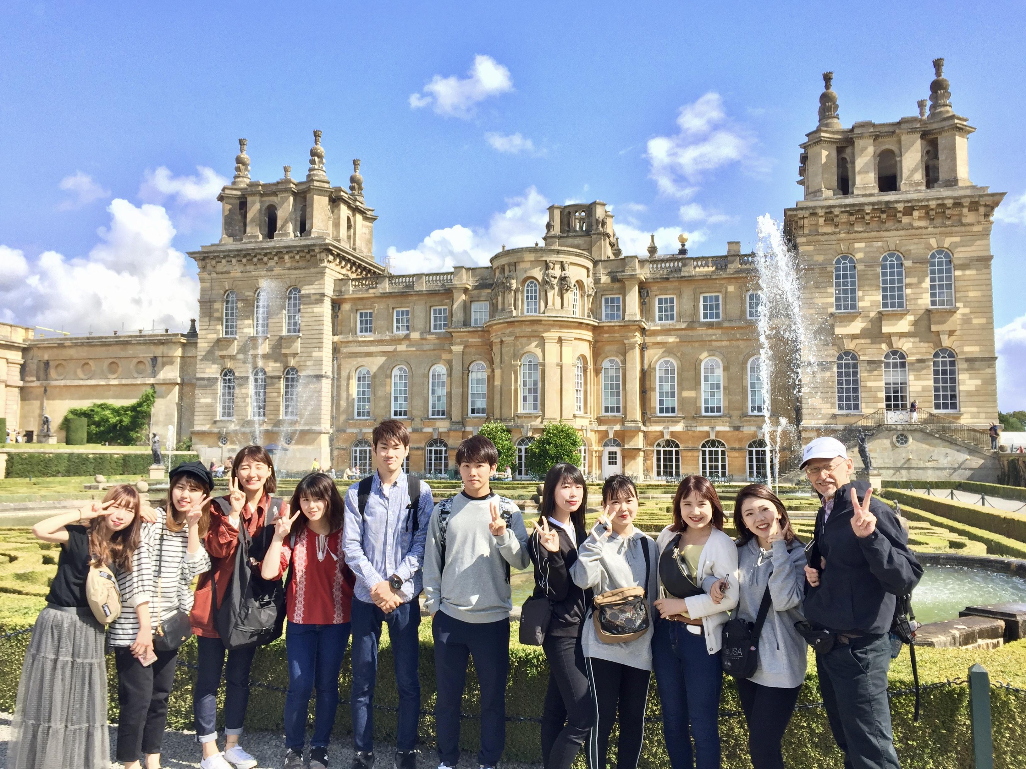 Hijiyama University students visit Blenheim Palace