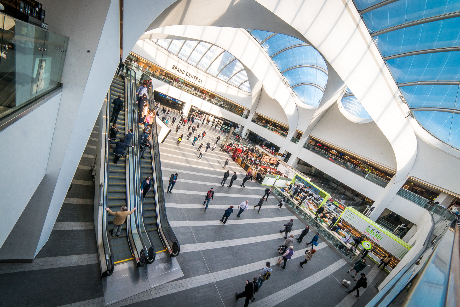 Birmingham's Grand Central shopping mall at New Street Train Station