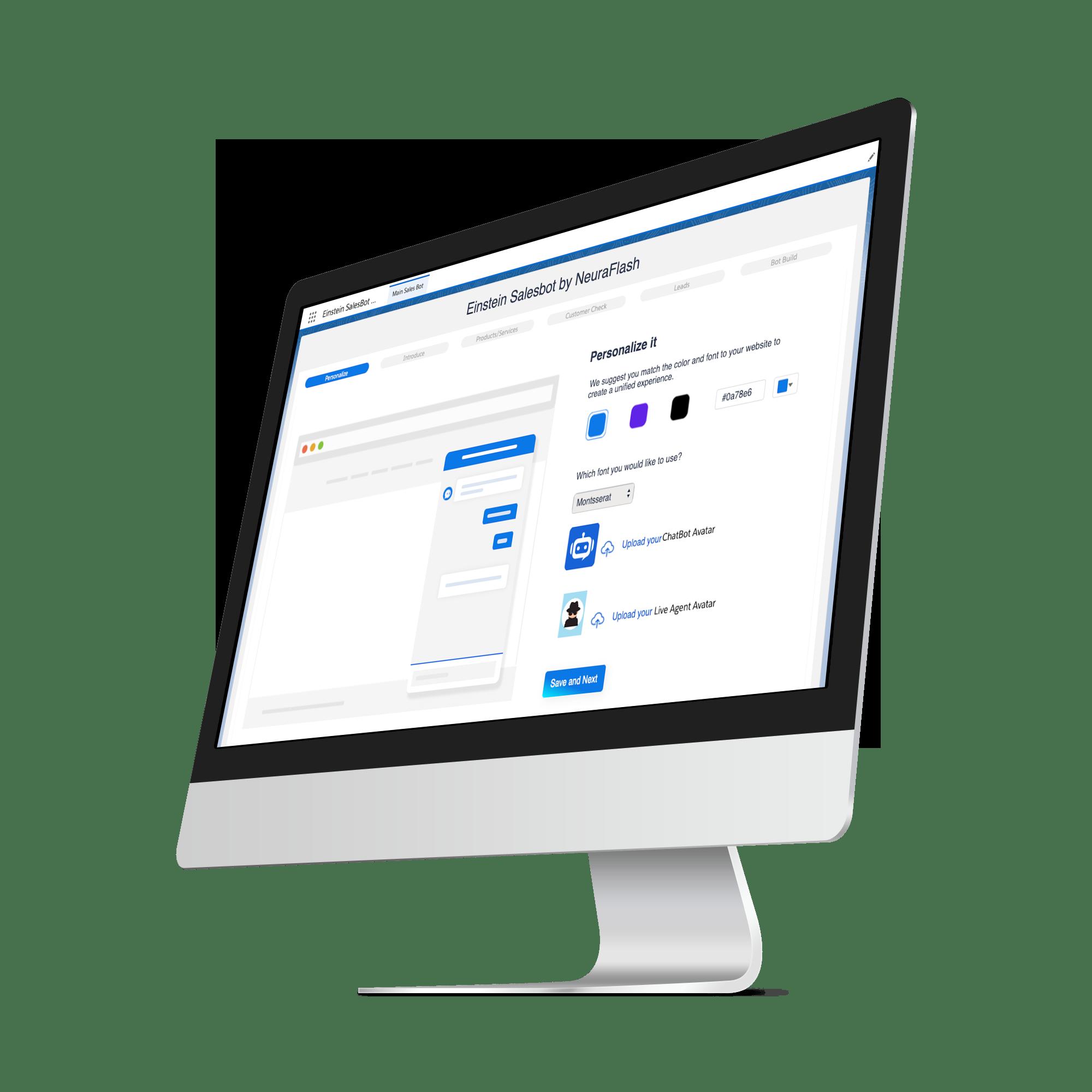 Salesbot App for the Einstein Bot
