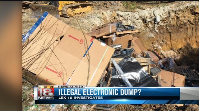 Illegal electronic dumps destroy the environment