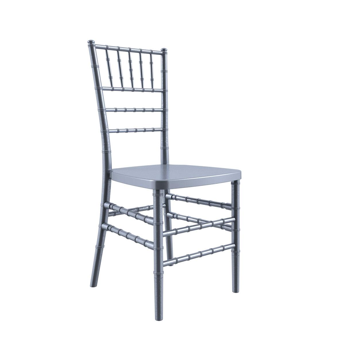 Cadeira Tiffany Madeira Prata