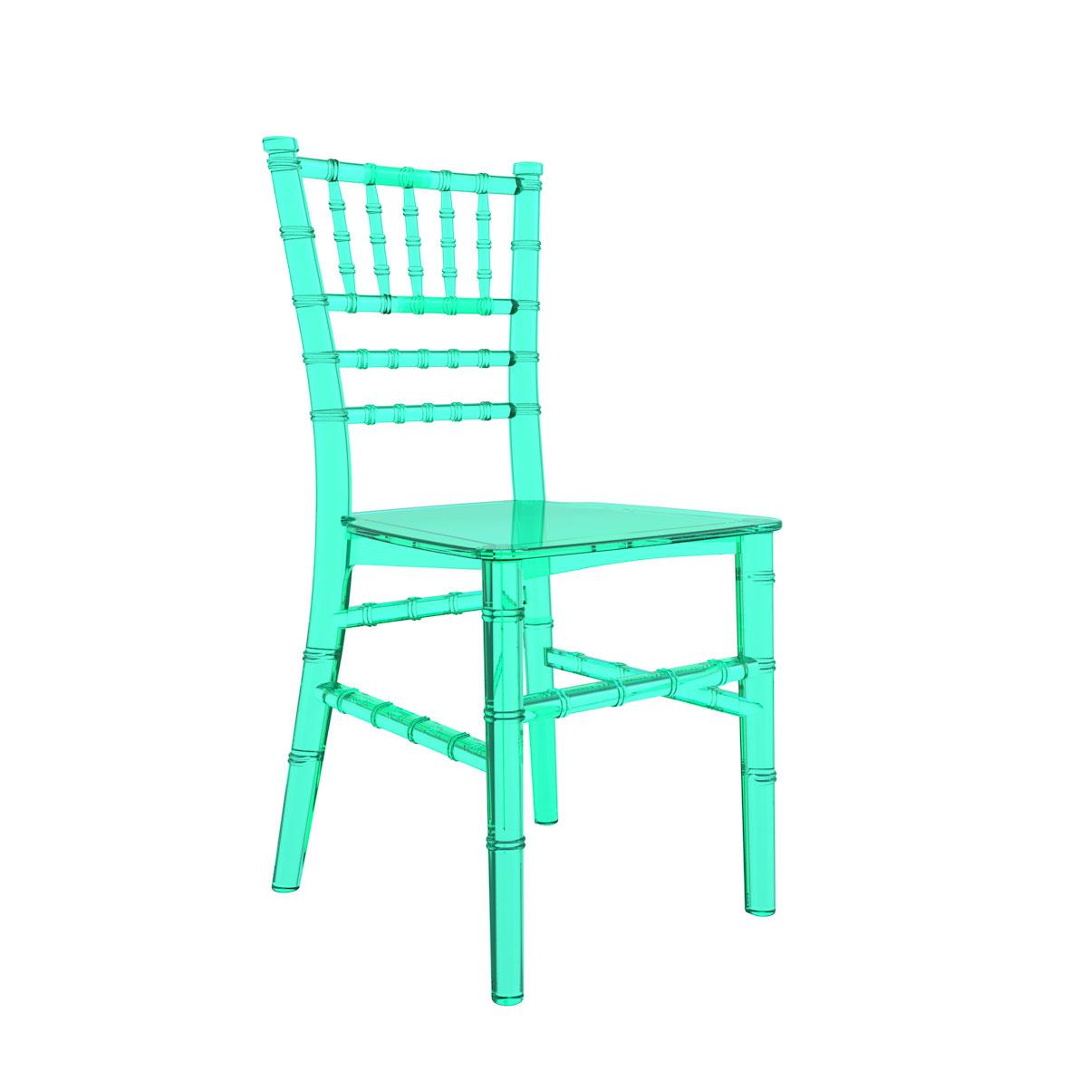 Cadeira Tiffany Infantil Cristal Verde