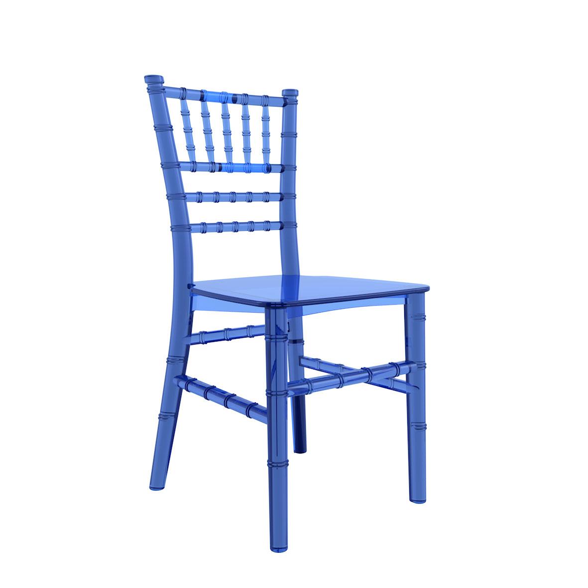 Cadeira Tiffany Infantil Cristal Azul