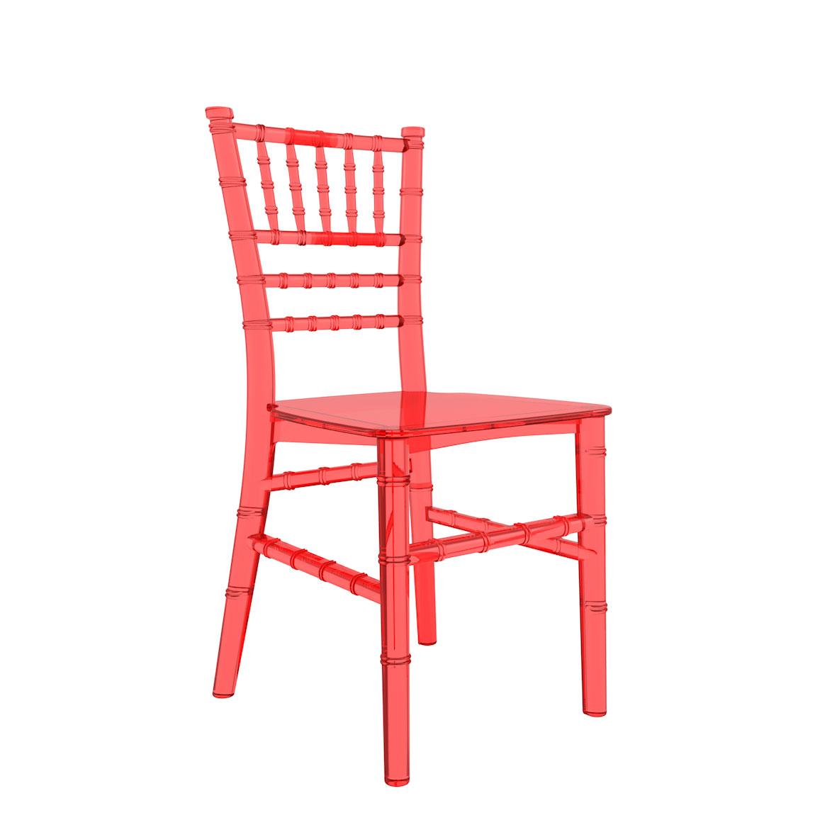 Cadeira Tiffany Infantil Cristal Vermelha
