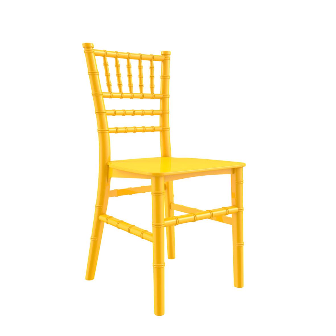 Cadeira Tiffany Infantil Color Amarela