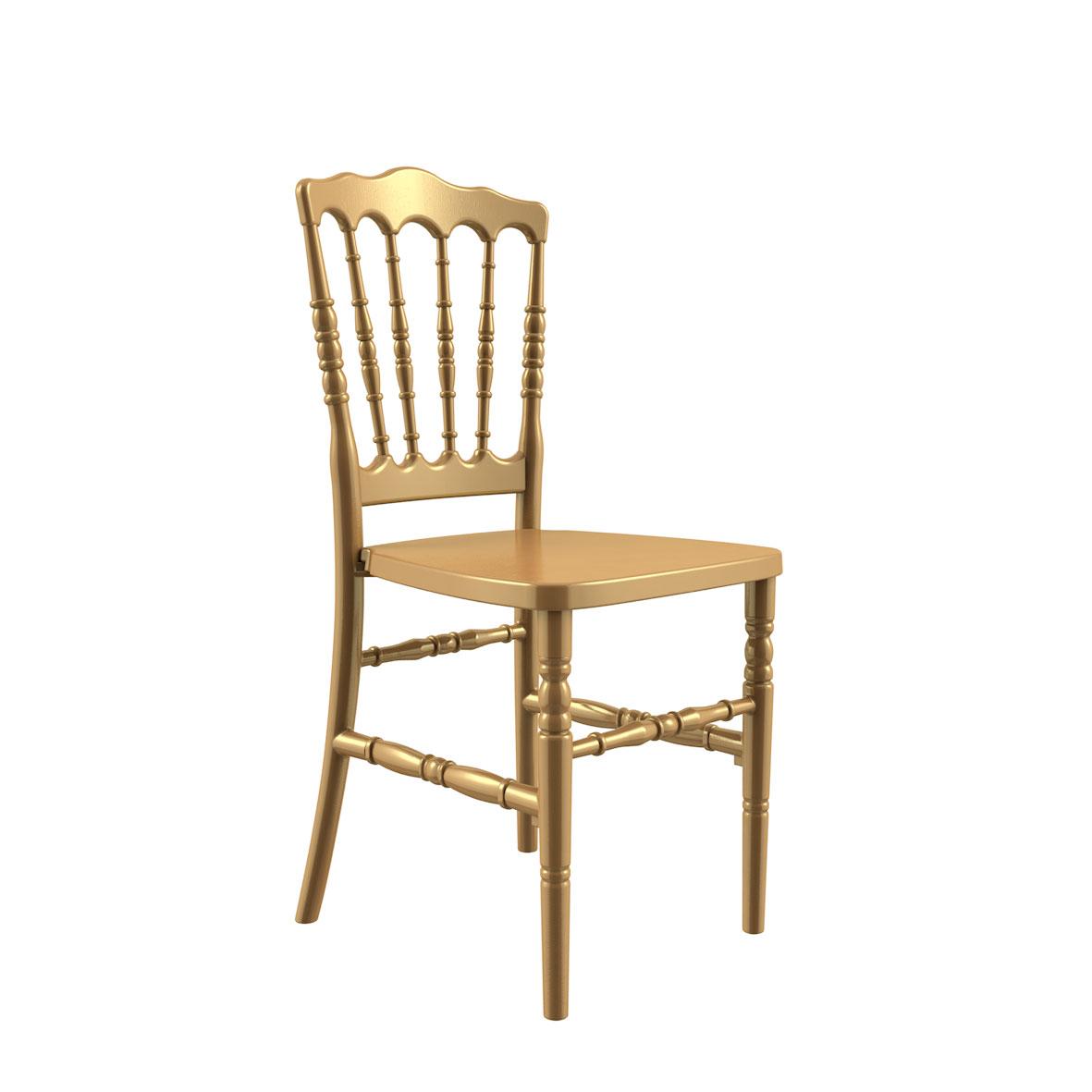 Cadeira Dior Madeira Dourada