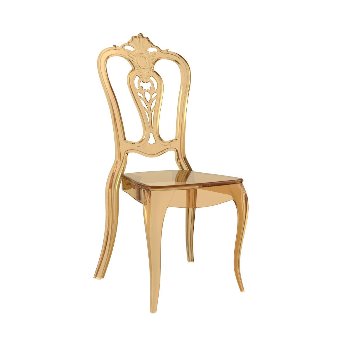 Cadeira Laura Cristal Âmbar
