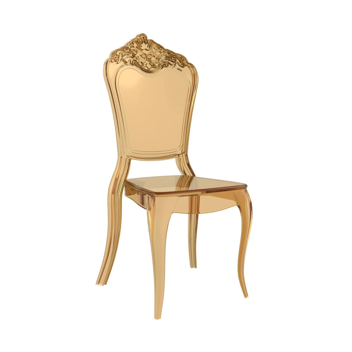 Cadeira Venezia Cristal Âmbar