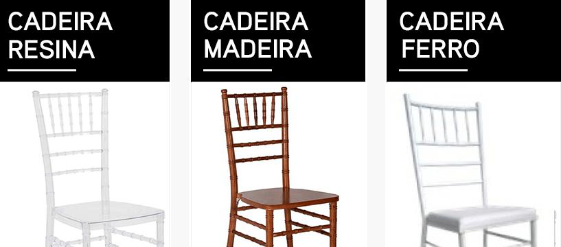 diferenças de materiais de cadeiras