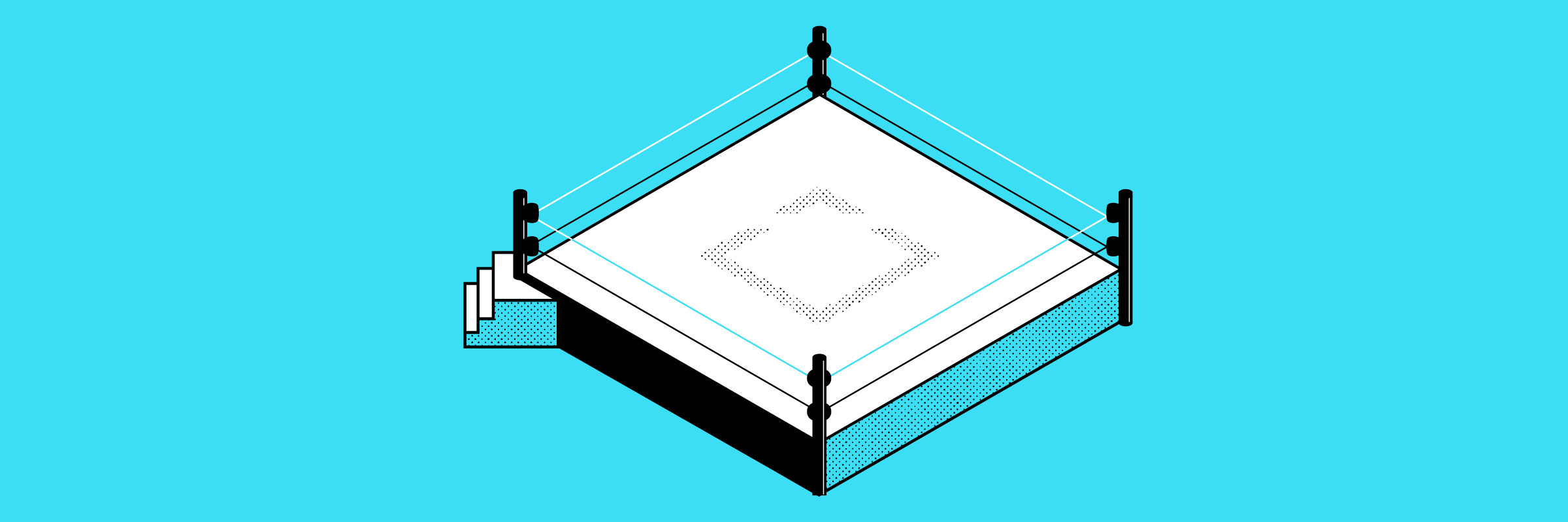 Illustration of a boxing ring
