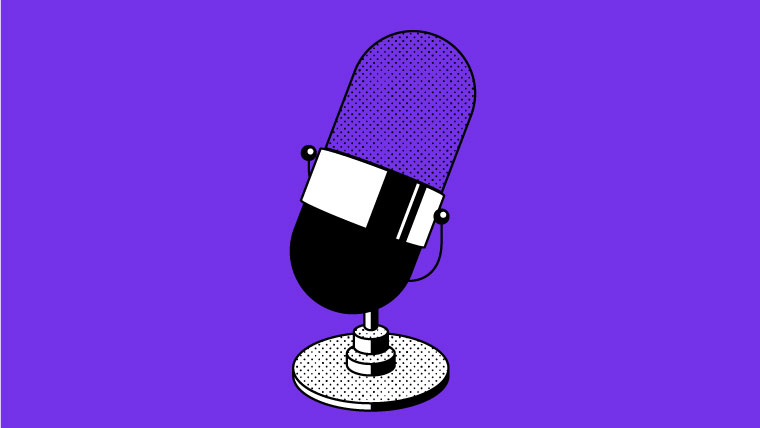 Illustration of a microphone