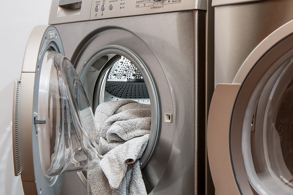 towels in a washing machine