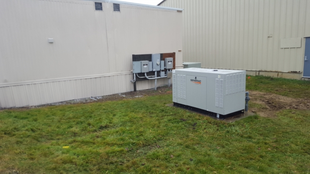New Generac 48kw replaced an old 36kw diesel Kohler generator for airport Medevac building