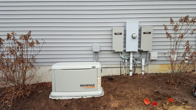22kw Generator with 2 transfer switches for farm home in Valley City ohio
