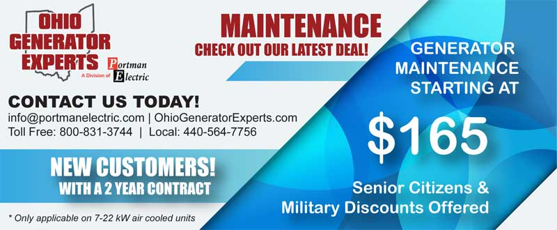 generator maintenance coupon cleveland ohio