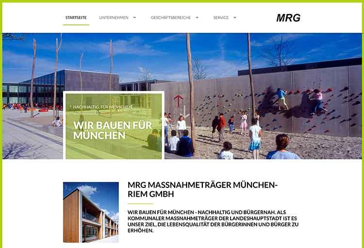 Webdesign MRG München Riem