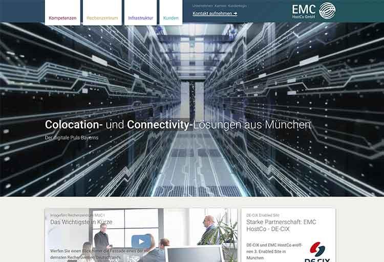 Webdesign EMC HostCo