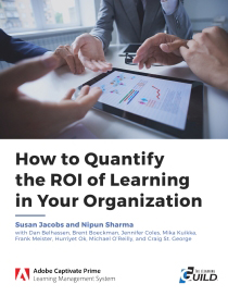 "Cover of the eLearning Guild's ""How to Quantify the ROI of Learning in Your Organization"" paper - Neovation Learning Solutions"