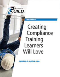 "Cover of the eLearning Guild's ""Creating Compliance Training Learners will Love"" paper - Neovation Learning Solutions"