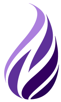The purple Neovation flame - Neovation Learning Solutions