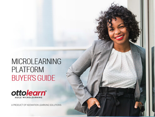 "Cover of the eLearning Guild's ""Microlearning Platform Buyers Guide""."