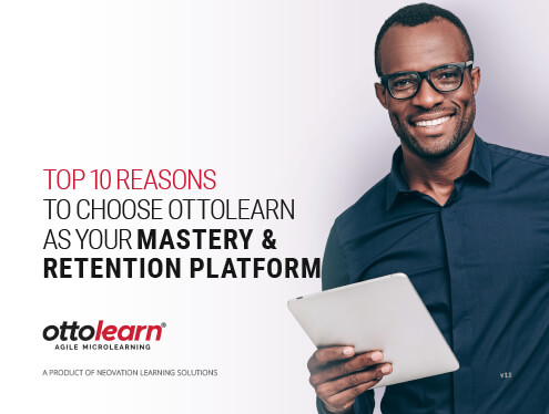 "The cover for OttoLearn's ""Top 10 Reasons to Choose OttoLearn as Your Mastery & Retention Platform"" whitepaper"