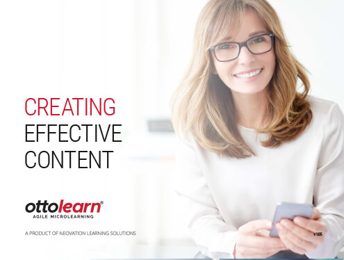 "The cover for OttoLearn's ""Creating Effective Content"" guide"