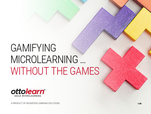 "The cover for OttoLearn's ""Gamifying Microlearning ... Without the Games"" whitepaper"
