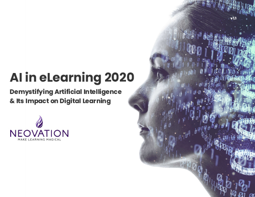 "The cover for Neovation's ""AI in eLearning 2020"" whitepaper"