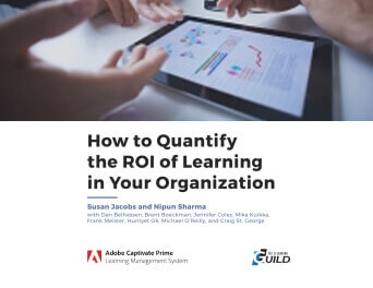"Cover of the eLearning Guild's ""How to Quantify the ROI of Learning in Your Organization"" paper"