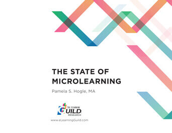 "Cover of the eLearning Guild's ""The State of Microlearning"" paper"